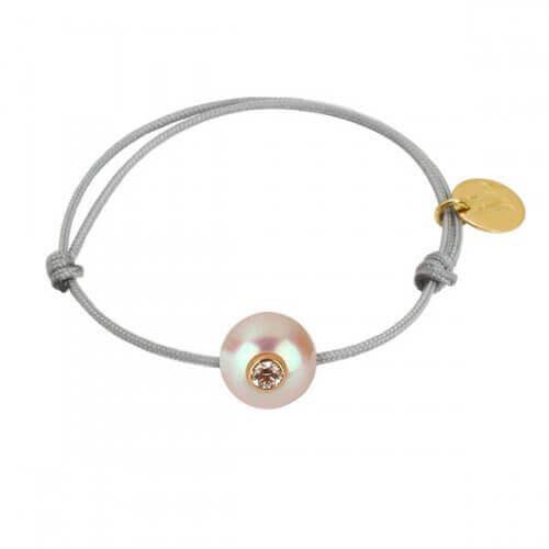 Bracelet bébé perle Akoya diamant - Baby Vip Plus