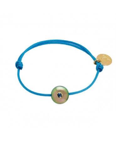 Bracelet bébé perle de Tahiti saphir bleu - Pacific Baby