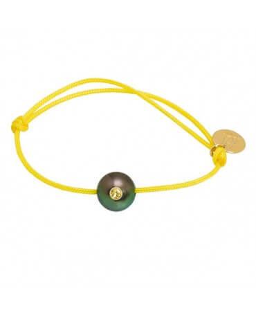 Bracelet bébé perle de Tahiti saphir jaune - Sunny Baby