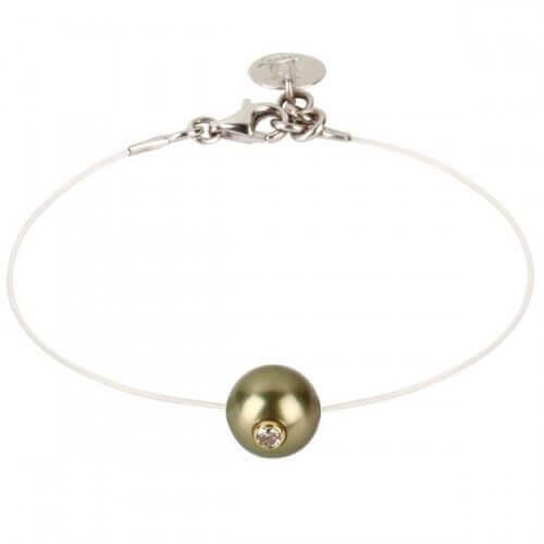 Bracelet perle de Tahiti sur Nylon - Simply Vip - JDL Création