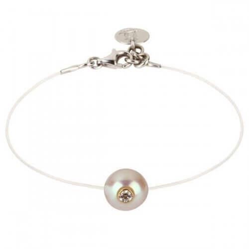 Bracelet perle Akoya sur Nylon - Simply Vip Plus - JDL Création