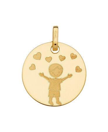 Super Bijoux de baptême - médaille religieuse, médaille laïque  ZG41