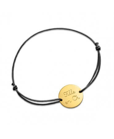 Monnaie de Paris : bracelet message fille en or