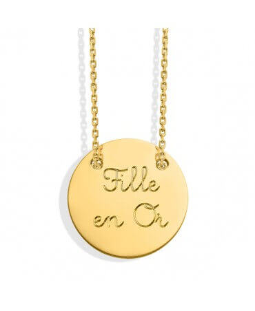 Monnaie de Paris : collier message fille en or