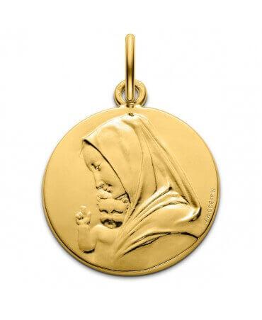 Monnaie de Paris : médaille Vierge à l'enfant Coeffin