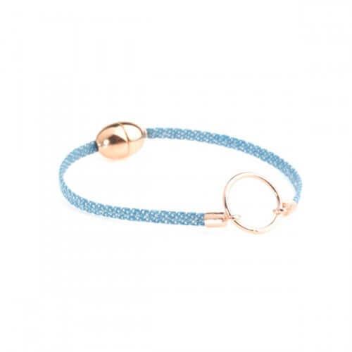 grande vente ec7a3 30d2e Bracelet cuir enfant - fermoir aimanté - Flowers For Zoé
