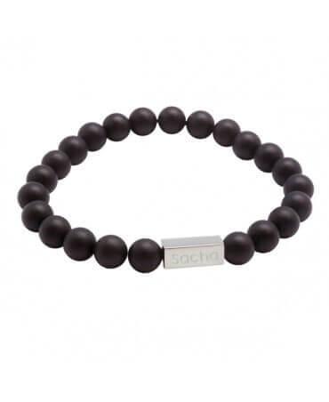 Bracelet perle homme gravure personnalisée - Petits Trésors