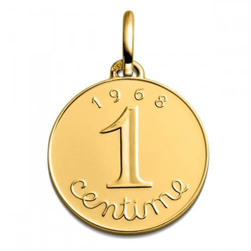 Pendentif 1 centime or jaune - Monnaie de Paris