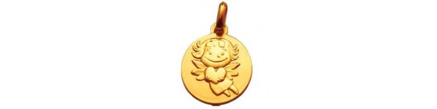 Médailles en or jaune 9 carats