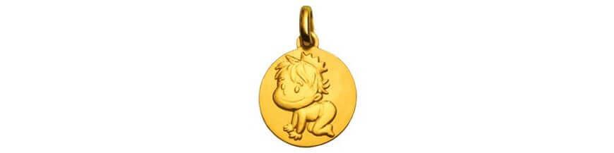 Médailles en or jaune 18 carats